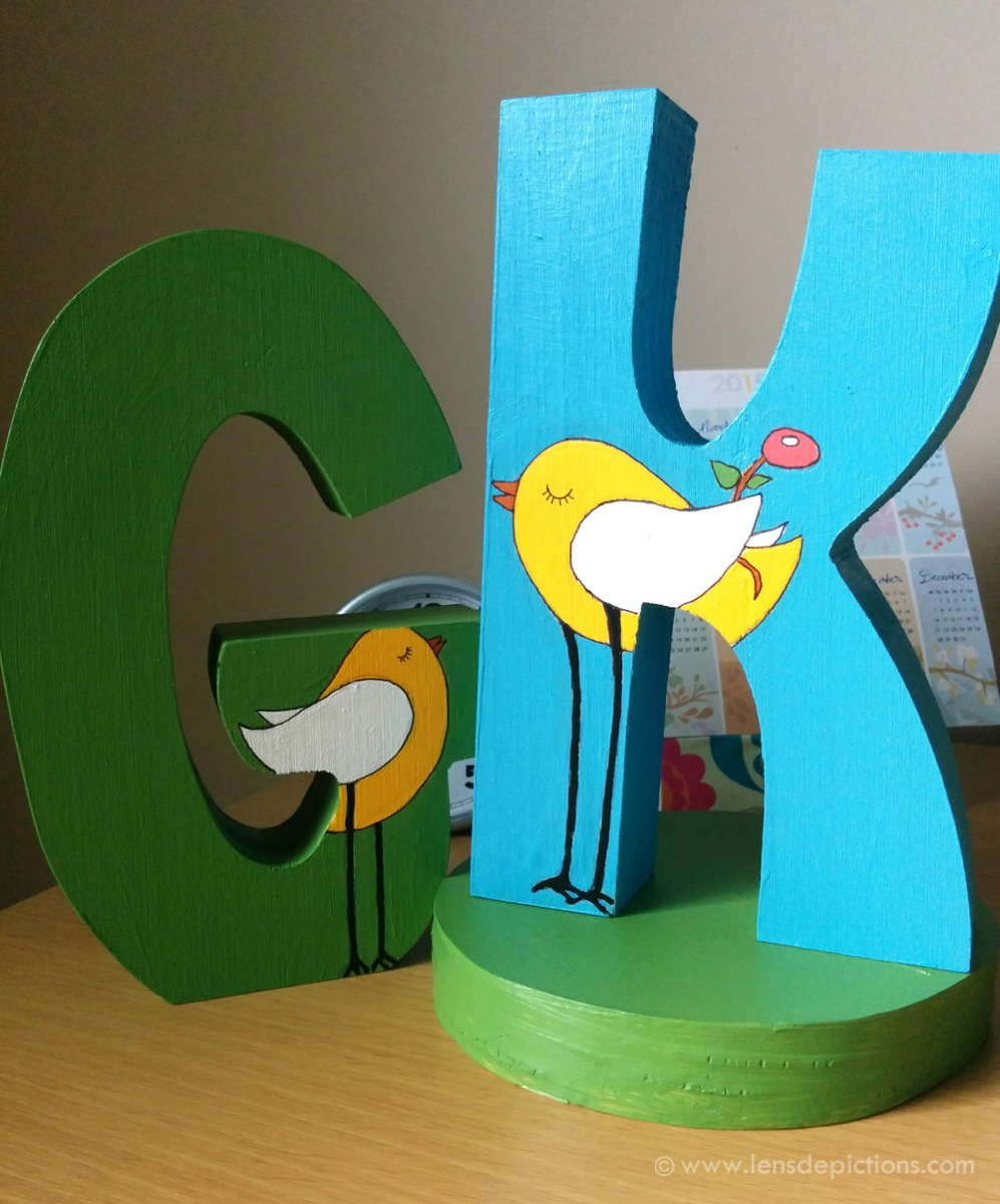 """The Proposal"" - Wooden letters painting"
